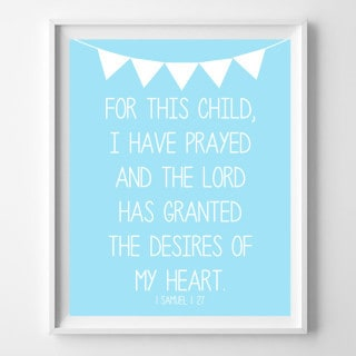 nursery art free printables {for this child, I have prayed}