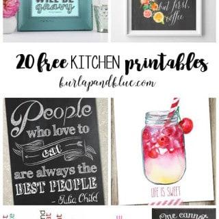 20 free kitchen printables