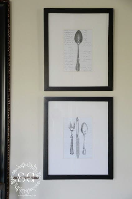 Vintage Wall Art For The Kitchen : Free kitchen printables