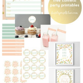 confetti party free printables