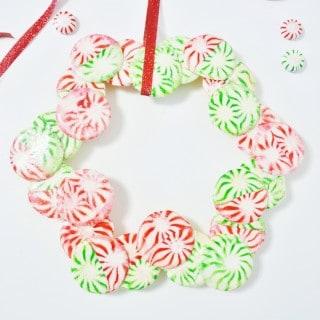 starlight mint christmas wreath {a tutorial}