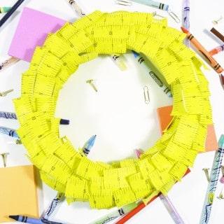 make a back to school wreath {a tutorial}