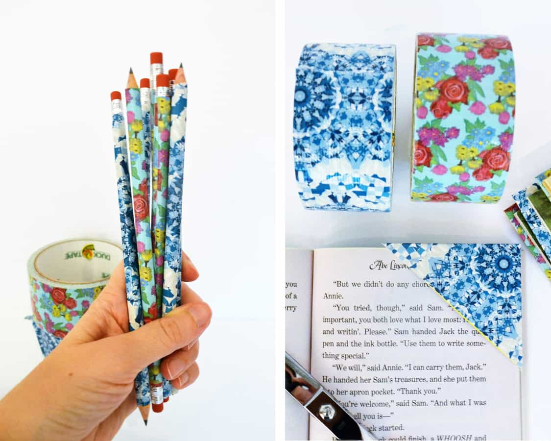 Back to school crafts with duck tape for Duct tape bookmark ideas