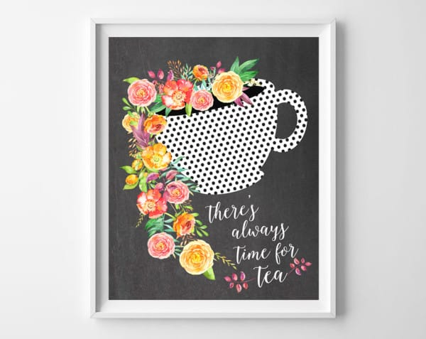 time for tea print