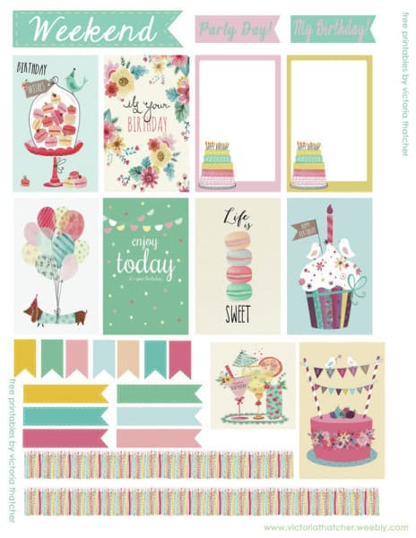 free Happy Planner printables