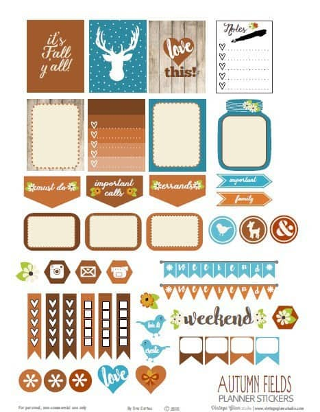 happy planner printables