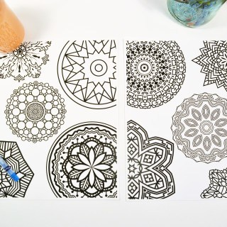 free mandala printable coloring pages {taking a mental break with coloring + Snapple®}