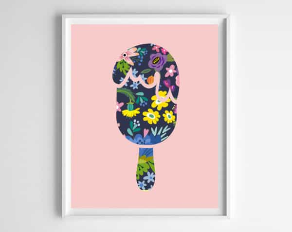 popsicle printable art