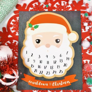 santa claus printable advent calendar