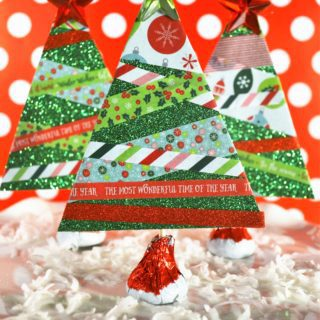 washi tape christmas trees {a tutorial}