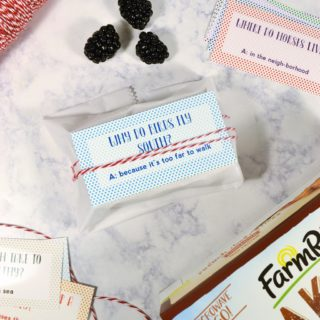 free printable lunchbox jokes {with Farm Rich Bakery}