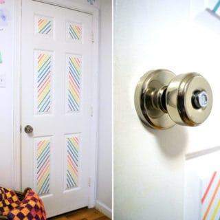 washi tape door decor {with Schlage®}