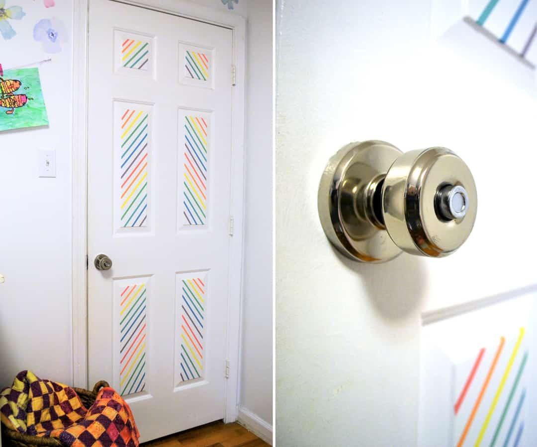 Pinterest Tape Home Decor Ideas: Washi Tape Door Decor {with Schlage®}