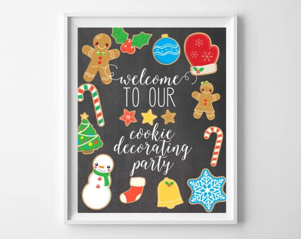 cookie decorating party printable