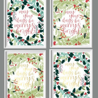 free christmas printables {merry & bright}