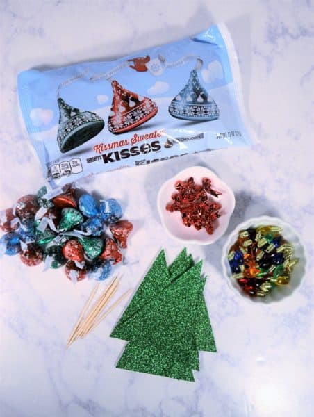 kissmas tree craft