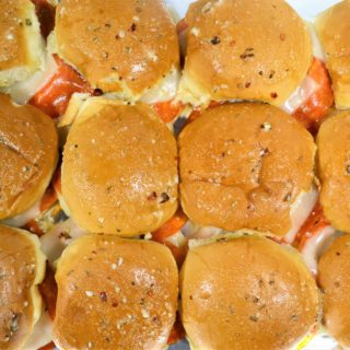 pizza sliders {an easy game day recipe!}