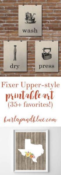 fixer upper printable art