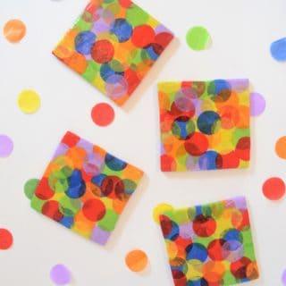 diy mod podge coasters {confetti dot}