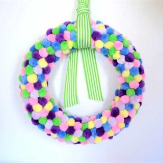 spring pom pom wreath {a tutorial}