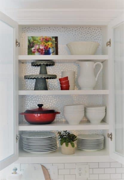 wallpaper kitchen cabinets