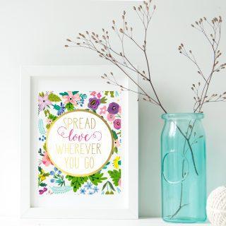 spread love free printable art