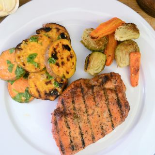 summer grilling with Smithfield® + grilled sweet potatoes