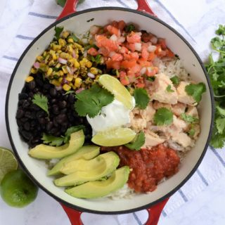 easy chicken burrito bowls 5