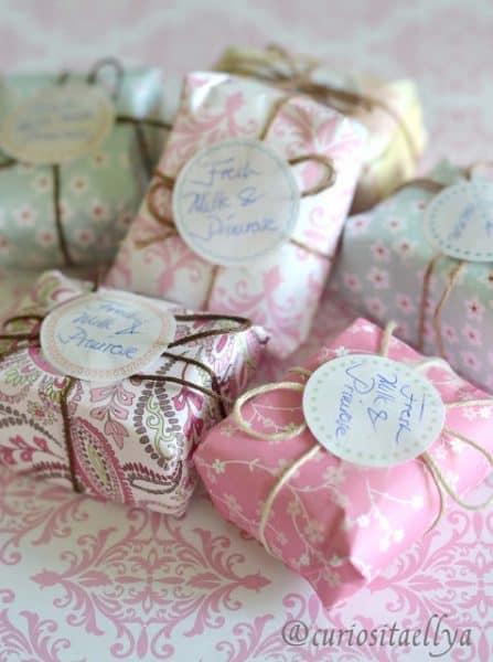 packaging homemade soap