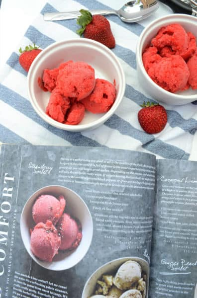 how to make strawberry sorbet 5