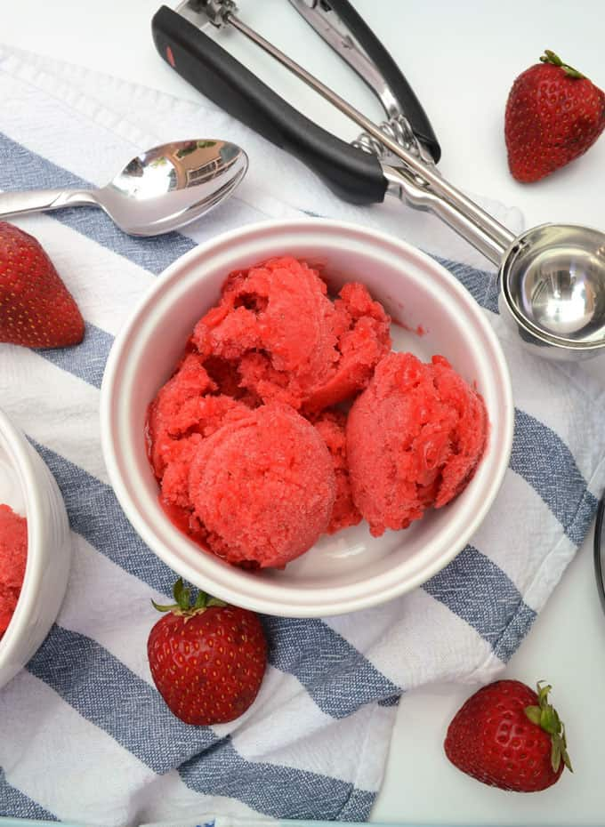 how to make strawberry sorbet 6